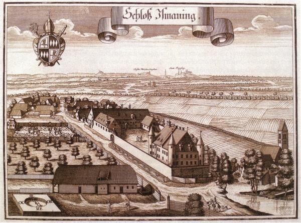 altes Schloss - Kupferstich Michael Wening 1701
