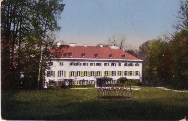 1919 Schloss Ismaning. Postkarte