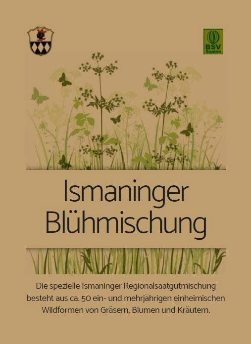 Die spezielle Ismaninger Regionalsaatgutmischung besteht aus ca. 50 ein- und mehrjährigen einheimischen Wildformen von Gräsern, Blumen und Kräutern.