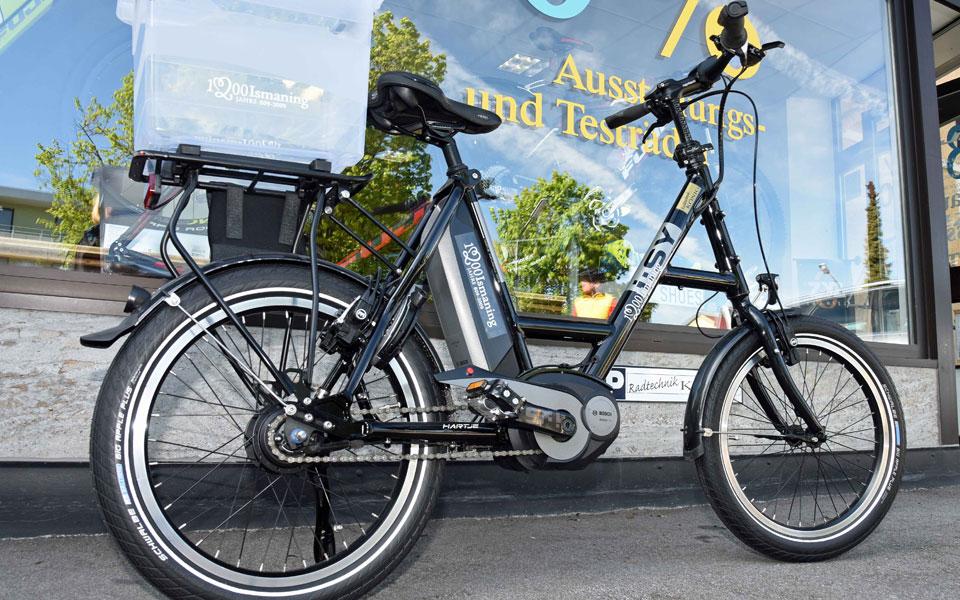 "Das ""Kleine"" – I:SY Mini-E-Bike mit Transportaufsatz"