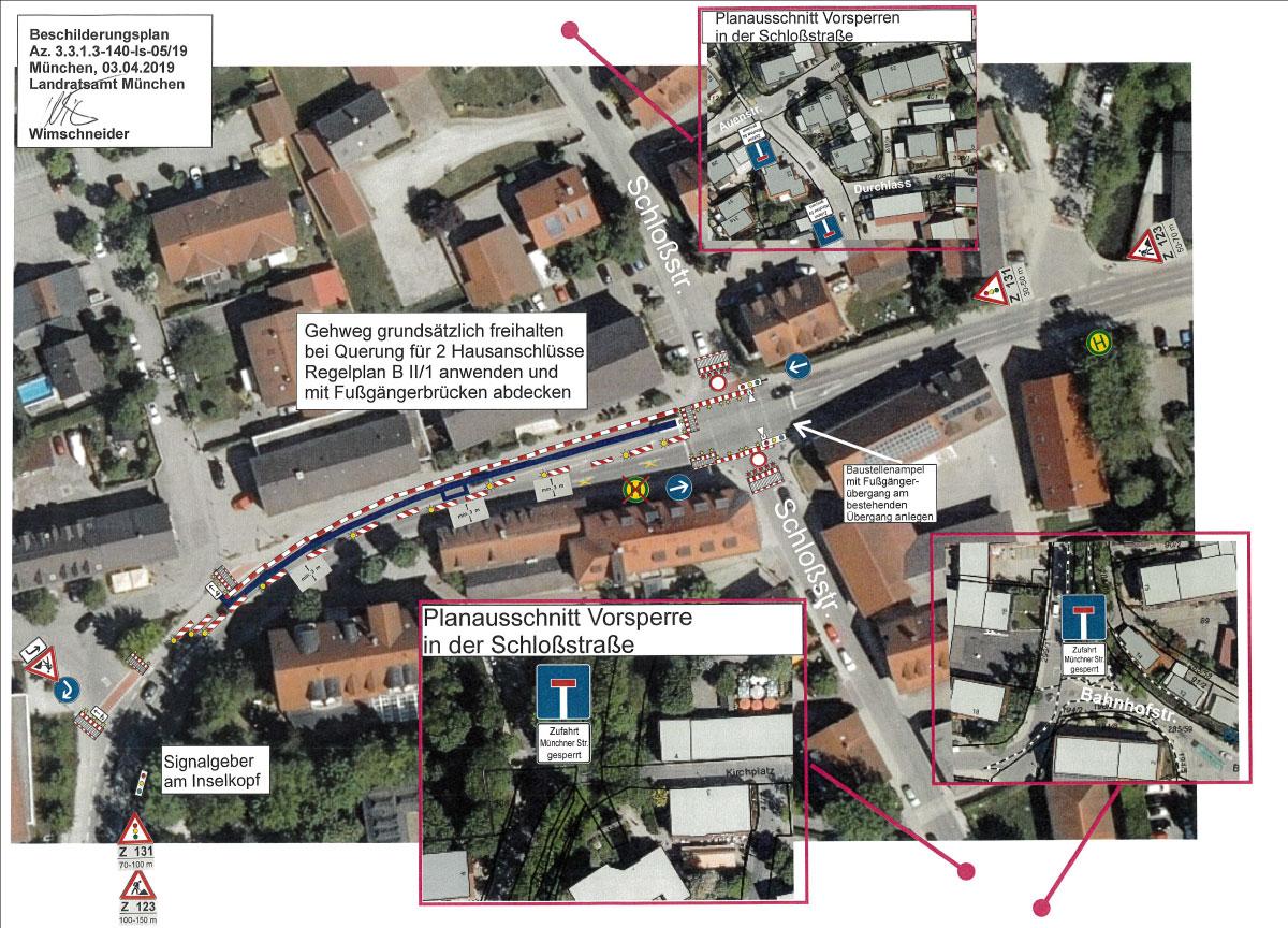 Ismaning: Vorsperre Schloßstraße