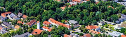 Banner Wohnen & Leben: Ismaning von oben